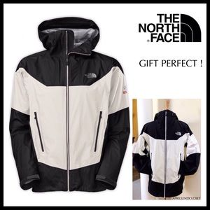 THE NORTH FACE BLACK WHITE JACKET WATERPROOF A2C
